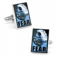 Star Wars Mens Fear Propaganda Poster Cufflinks with Collectible Gift Box