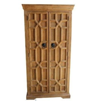 Kazzit Tall Wood Wine Cabinet by Home Accents Gallery WC101