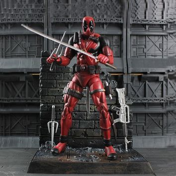 Pandadomik Deadpool Original PVC 8inch Action Toy Figure Movie Doll Model Avengers Actions Figurine Marvel Toys Gifts for Boys