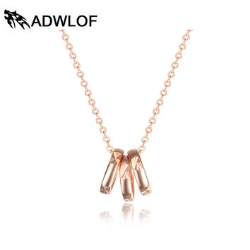 ADWLOF Solid Pure 925 Sterling Silver Necklaces Brilliant Rose Gold Circle Pendant Necklace for Women Summer Style Fine Jewelry