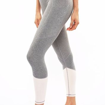 Riley 7/8 Medium Waist Tight - Heather Grey/Blush
