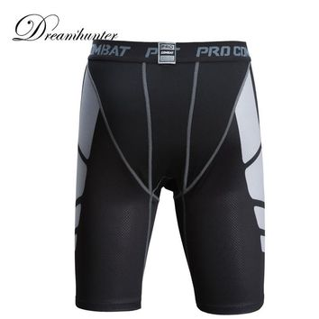 Patchwork Elastics Sports Running Shorts For Men Breathable Skinny Compression Shorts Training Basketball Jogging Sweatpants