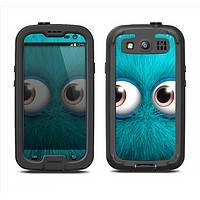 The Teal Fuzzy Wuzzy Samsung Galaxy S3 LifeProof Fre Case Skin Set