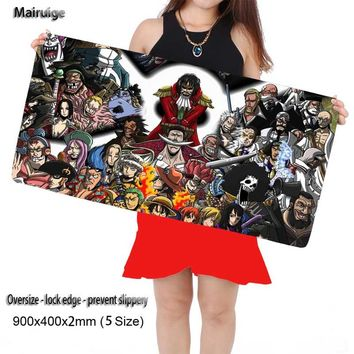 Mairuige Shop Large One Piece Anime Plain Extended Water-resistant Anti-slip Rubber Gaming Mouse pad Desk Mat for Cs Go DOTA2