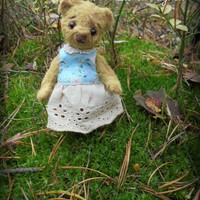 Sale! OOAK teddy bear Mirabel Vintage teddy bear Artist teddy bear Gift for her Stuffed bear 4,7 inches old bear
