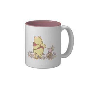Classic Winnie the Pooh and Piglet 3 Two-Tone Coffee Mug