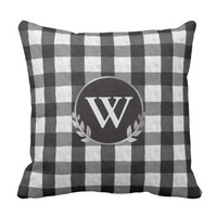 Black and White large Stripe Outdoor Pillow