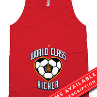 Soccer Pregnancy Announcement T Shirt Gifts For Expecting Moms Soccer Shirts For Mom Spanish Soccer Fan American Apparel Tanks MD-650