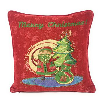 "DaDa Bedding Red Santa Clause Throw Pillow Cover Tapestry Cases 16"" x 16"" (17615)"