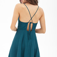 Crossback Cami Skater Dress