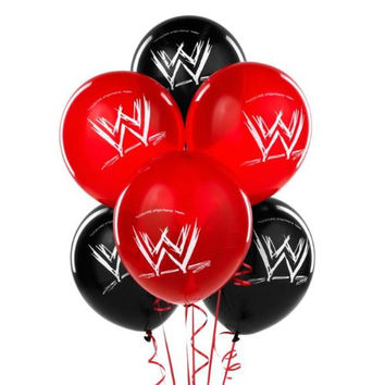 WWE Wrestling Latex Balloons (6ct)