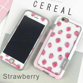 summer fruit watermelon lemon strawberry phone case for  iphone 6/6s 6plus/6s plus ,7/8 7plus/8plus