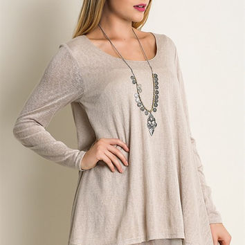 A Touch of Lace Tunic - Tan
