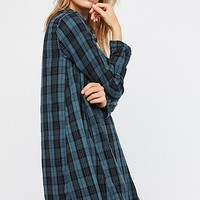 Bree Plaid Shirtdress