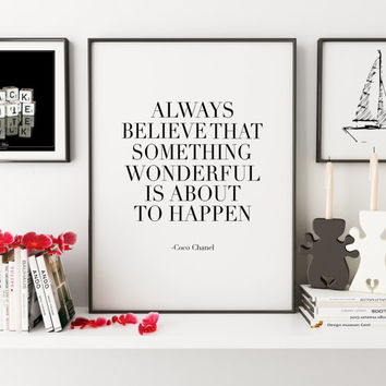 COCO CHANEL QUOTE,Inspirational Quote,Fashion Print,Fashionista,Wall Art,Digital Print,Quote Prints,Fashion Illustration,Girls Room Decor