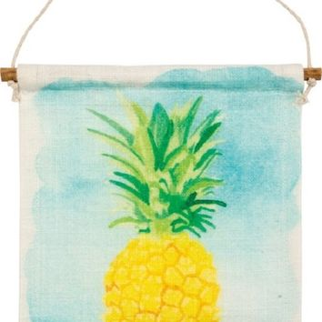 Linger Longer Tropical Pineapple Banner