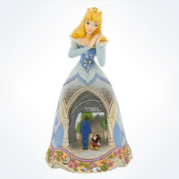Disney Traditions Jim Shore Disneyland 60th Sleeping Beauty Aurora Walt & Mickey