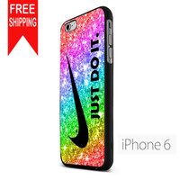 Nike Just Do It Rainbow Sparkle S iPhone 6 Case