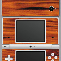 Nintendo DSi Redwood Skin Cover red wood dsiredwood