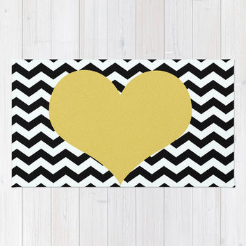 Chevron Rug/black And White Rug/chevron Bath Mat/chevron Throw Rug/