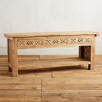 Handcarved Fretwork Console