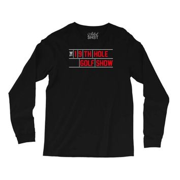 my best round is the 19th hole funny golf drinking Long Sleeve Shirts