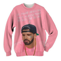 Women Men Sweats Jumper Fashion DRAKE HOTLINE BLING MOCK 3D Sweatshirts crewneck Outfits Jogger Plus size custom made clothing