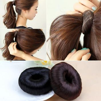 LNRRABC Hair Braider  Women Hairpiece Donut Hair Styling Accessory Braiding Tools Updo Maker Hair Accesories Black