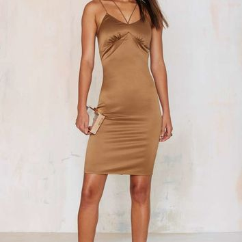 JOA Sleek and Destroy Satin Dress