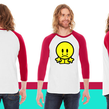 sad smiley 2c American Apparel Unisex 3/4 Sleeve T-Shirt