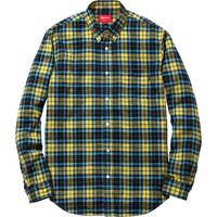 Supreme: Lightweight Flannel Shirt - Black