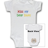 Kiss My Bear Butt Baby Onesuit