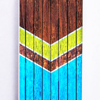 Chevron Classic On Wood for Iphone 5 / 5s Hard Cover Plastic