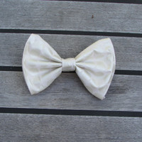 Formal Normal Cream Hair Bow