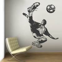 Wall Vinyl Sticker Decals Decor Art Bedroom Design Dorm Kids Nursery Keeper Football Soccer Sport (z3061)
