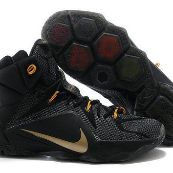 Where To Buy LeBron 12 XII ID Black Gold Brand sneaker