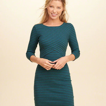 16a64e70c53 Cross-Front Ribbed Bodycon Dress from Hollister Co.
