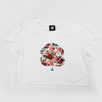 Oil Pastel Rose Crop Top