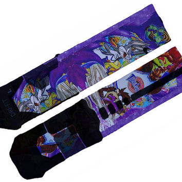 Custom Space Jam Nike Elite Socks
