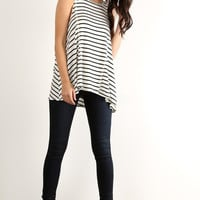Can't Cross Me Striped Tunic Top