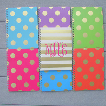 Eco-Friendly Adorable Monogrammed Journal for Back to School, College, Work, Anything!