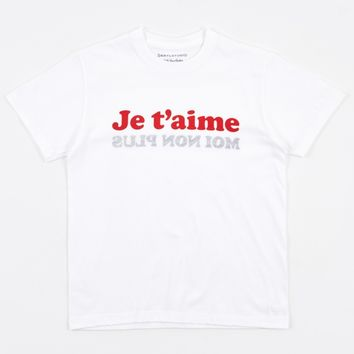 Darylstudio Je T'aime T-Shirt - White/Red/Navy