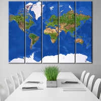 Map of the earth, Earth continents map, Colorful map print, Earth print, Earth map, Earth poster, Earth from space, Relief map of the world