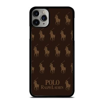POLO RALPH LAUREN COLLAGE BROWN iPhone Case Cover