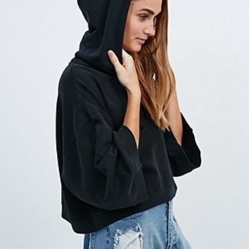 Cheap Monday Vasty Cropped Hoodie in Black - Urban Outfitters