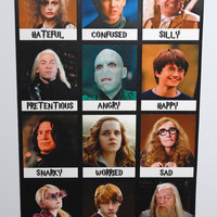Today I Feel Magnetic Board - Harry Potter Style PG Version