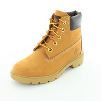 "Timberland Kids Wheat Nubuck 6"" Classic Boot Kids 3.5 US Big Kid"