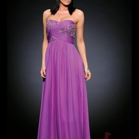 Sheath/Column Sweetheart Floor-length Chiffon Best-Selling Prom Dress with Beading at Msdressy