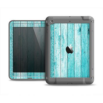The Trendy Blue Abstract Wood Planks Apple iPad Air LifeProof Fre Case Skin Set