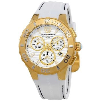 TechnoMarine Cruise Medusa Chronograph White Dial Mens Watch 115077